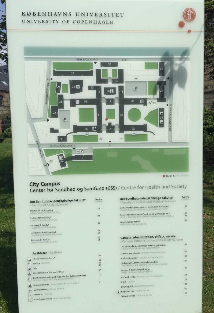 哥本哈根大学地图